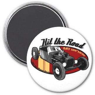 Rats goin'racing fridge magnets