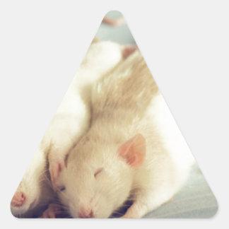 Rats heart tail triangle sticker