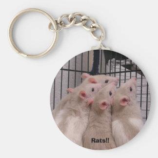 Rats!! Key Ring