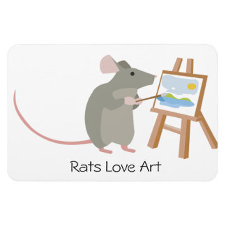 Rats Love Art Magnet