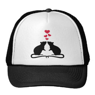 Rats love hearts cap
