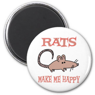 Rats Make Me Happy Magnet