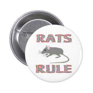 RATS RULE 6 CM ROUND BADGE