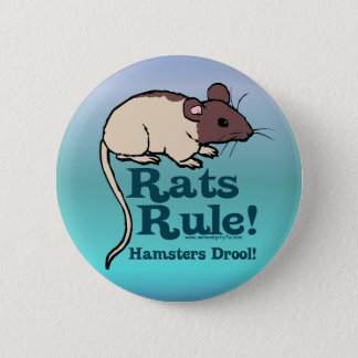 Rats Rule! 6 Cm Round Badge