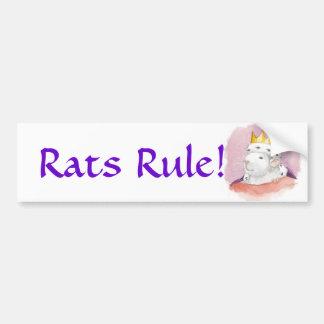 Rats Rule! Bumper Sticker