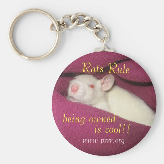 Rats Rule/owned cool Basic Round Button Key Ring