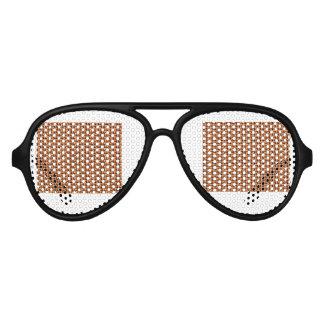 Rattan texture aviator sunglasses
