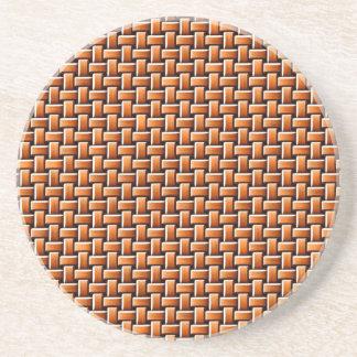 Rattan texture beverage coasters