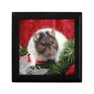 Rattie Christmas Box Small Square Gift Box