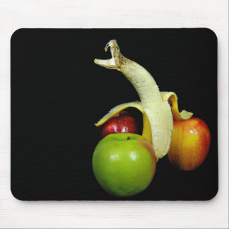 rattle snake banana head mouse pad