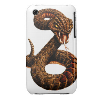 Rattle Snake iPhone 3 Case-Mate Cases