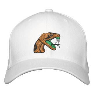 Rattler WHT  Head & Shield Cap Embroidered Baseball Cap