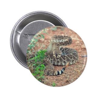 Rattlesnake 6 Cm Round Badge