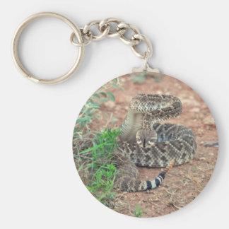 Rattlesnake Basic Round Button Key Ring