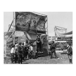 Rattlesnake Joe Sideshow, 1920s Postcard