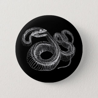 Rattlesnake Skeleton 6 Cm Round Badge