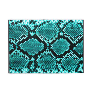 Rattlesnake Snake Skin Leather Faux blue iPad Mini Case