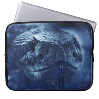 Rattlesnake stare laptop sleeve