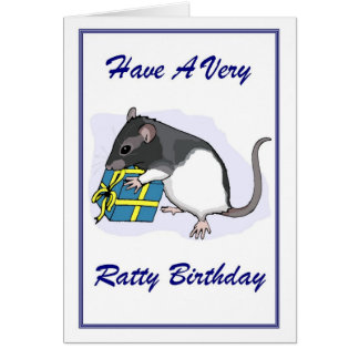 Ratty Birthday Card