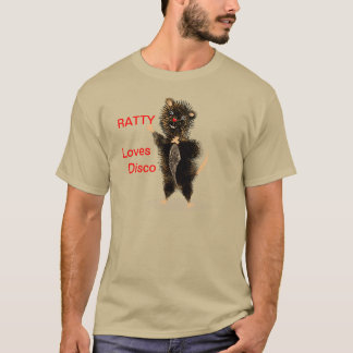 Ratty Loves Disco Whimsical Funny Cute Rat T-Shirt
