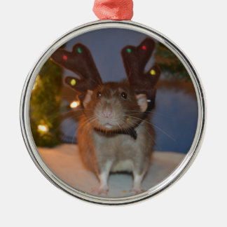 Ratty Reindeer Christmas Ornament