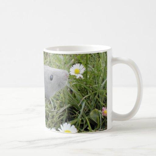 Ratty Smelling the Daisies Coffee Mug