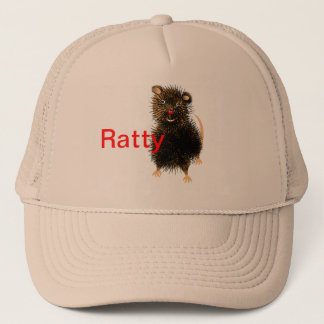Ratty The Cute Whimsical  Funny Rat Trucker Hat