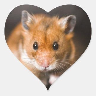 Ratty the hamster heart sticker