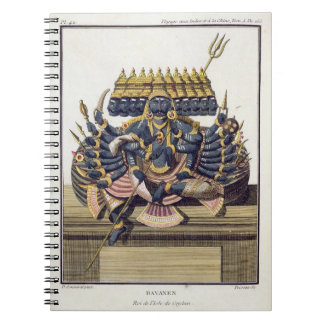 Ravana, demon king of Ceylon, from 'Voyage aux Ind Spiral Notebook