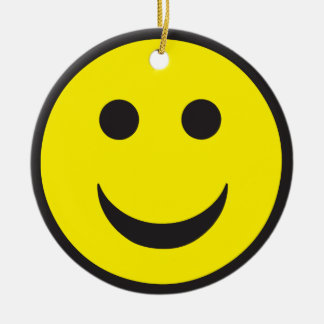 Rave Acid House Smiley Christmas Ornament