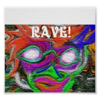 Rave flyer posters
