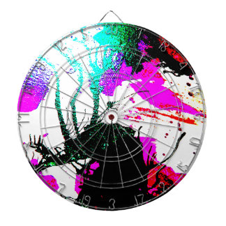 Rave neon party abstract dartboard