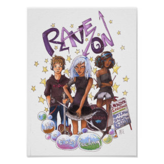 Rave On Poster