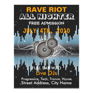 Rave Riot Music Flyer