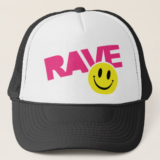 Rave Smiley Trucker Hat
