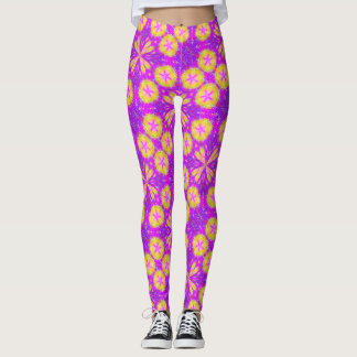 Rave Star Abstract Pastel Love Satin Leggings