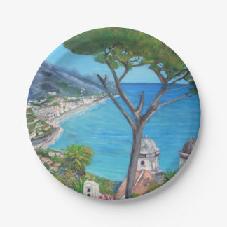 "Ravello - Custom Paper Plates 7"""
