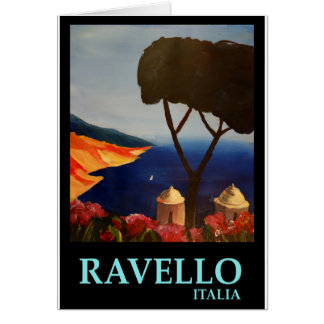 Ravello Salerno Italy View of Amalfi Coast Card