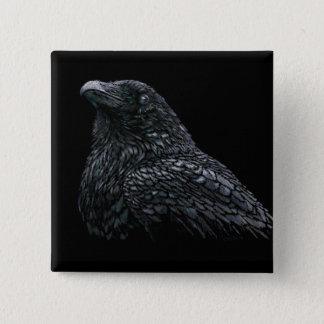 Raven 15 Cm Square Badge