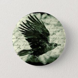 Raven 9 6 cm round badge