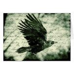 Raven 9 greeting card