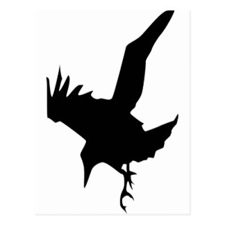 Raven A Halloween Bird Of Prey Postcard