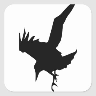 Raven A Halloween Bird Of Prey Square Sticker