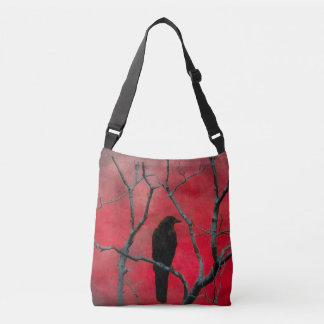 Raven And A Velvet Red Sky Crossbody Bag
