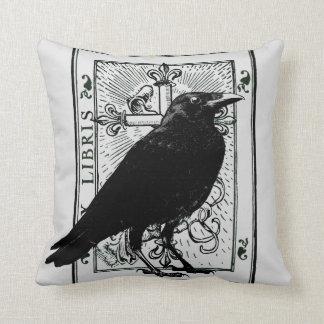 Raven and Fleur Du Lys Cross Cushion