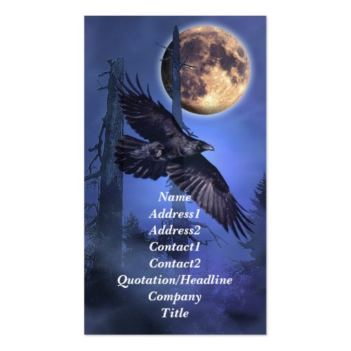 Raven and Moon Business Card