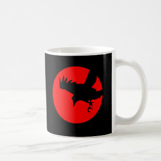 Raven and red sun mugs