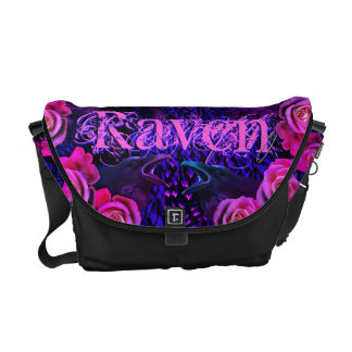 Raven and Roses Evermore Gothic Messenger Bag