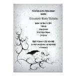 Raven and skull Gothic wedding bridal shower 13 Cm X 18 Cm Invitation Card