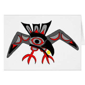 Raven and the sun greeting card